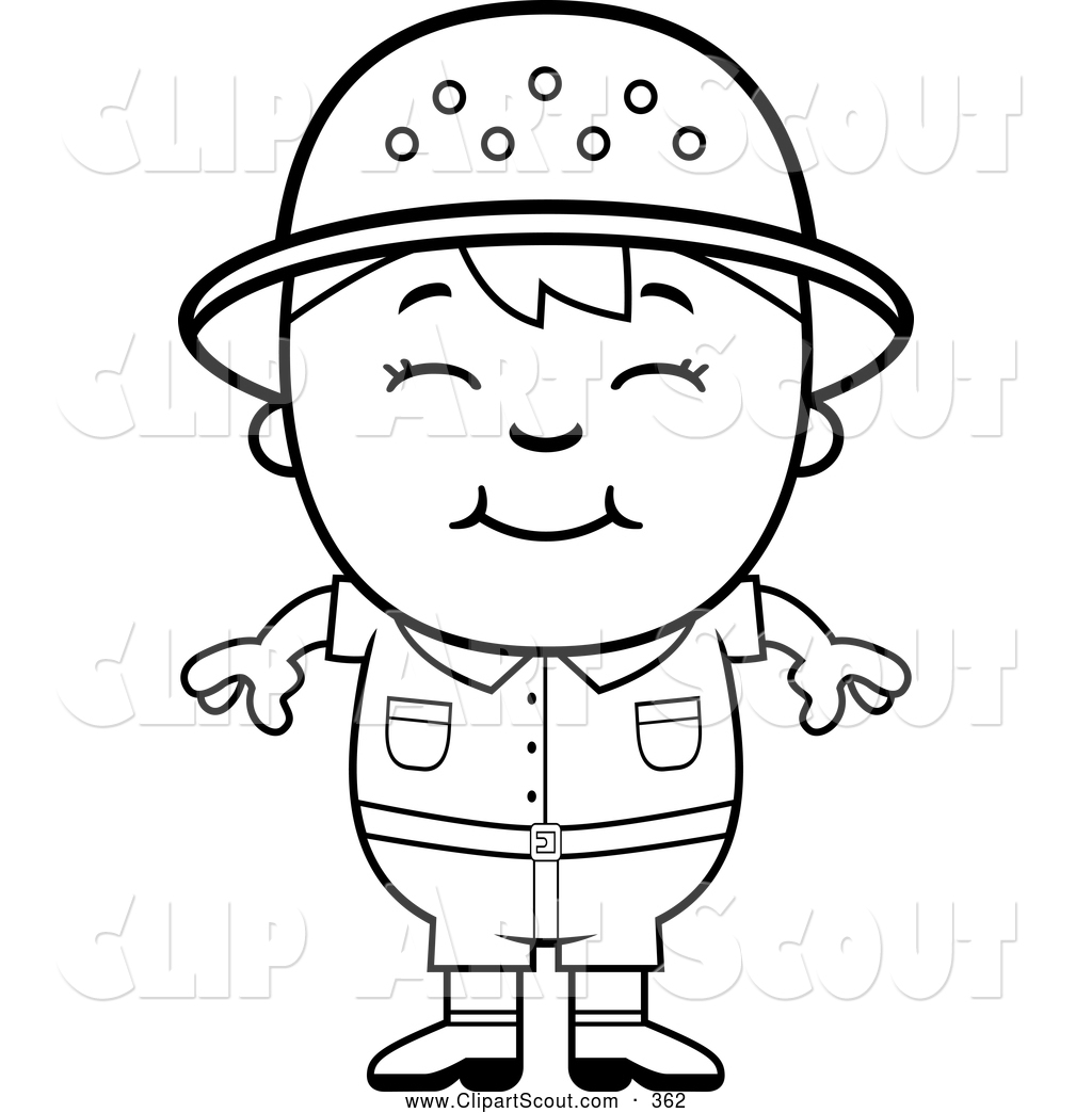Royalty free stock scout. Angry clipart cute