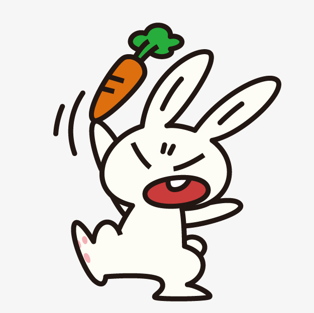 Cartoon rabbit bunny png. Angry clipart cute
