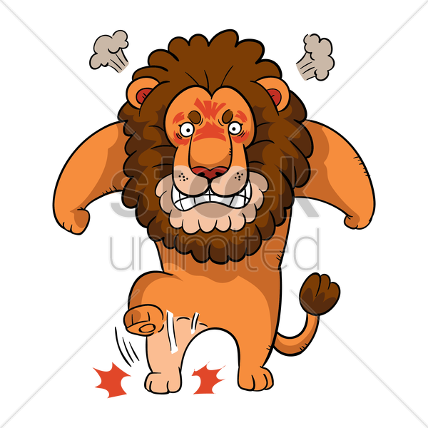 Angry clipart furious. Lion pencil and in