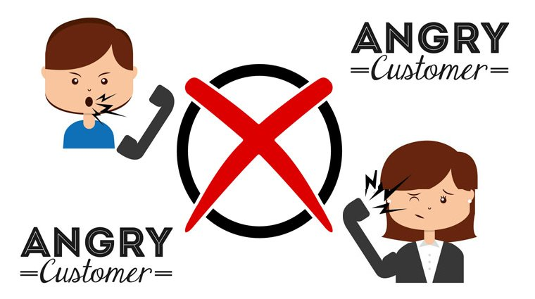 Yelling clipart difficult customer. The right words and