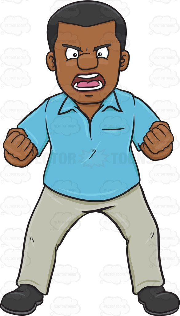 A very furious black. Angry clipart irate