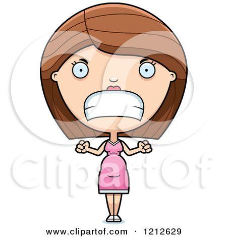 Angry clipart mad. Mom cartoon royalty free