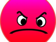 Face annoyed symbol sample. Angry clipart mad