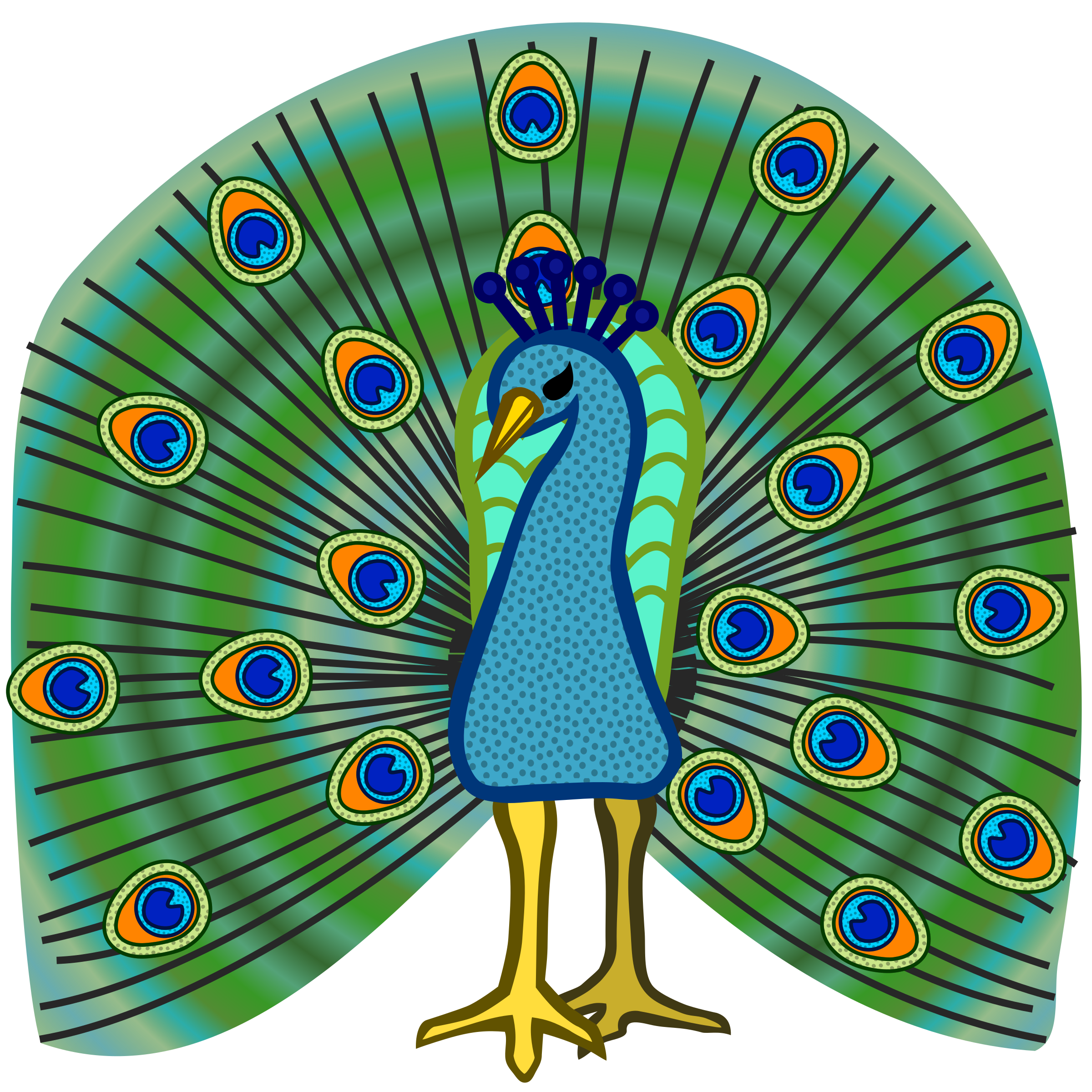 Animals clipart peacock. Coloured icons png free