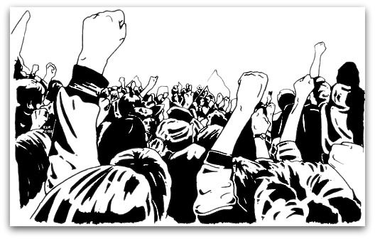 Announcements clipart activist. Angry crowd iskanje google