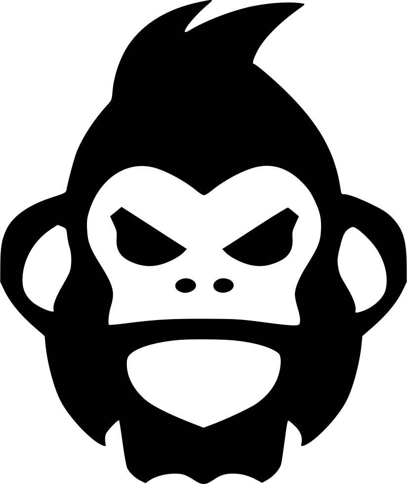 Gorilla rage svg png. Ape clipart angry monkey