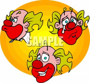 A happy and clown. Angry clipart sad