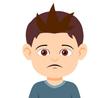 Free facial expressions clip. Angry clipart sad