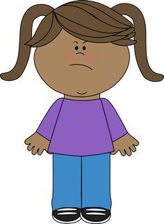 Boys clipart angry. Sad face girl ilustracje