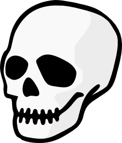 Bones clipart simple. Angry skull clipartbold clipartix