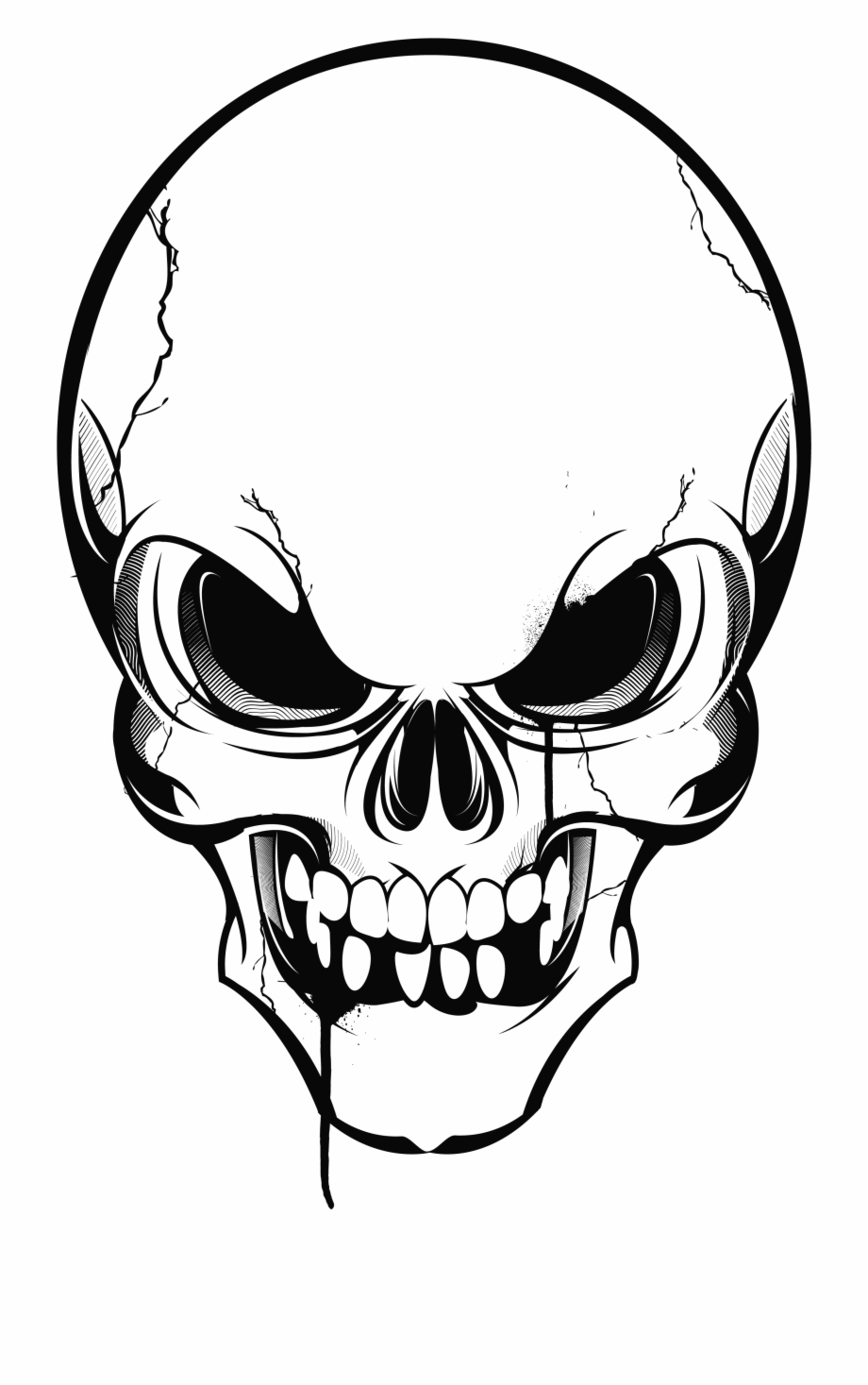 Skeleton clipart angry. Us drawing skull transparent
