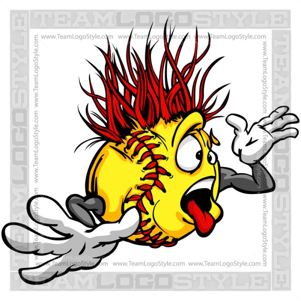 Cartoon pictures image group. Angry clipart softball