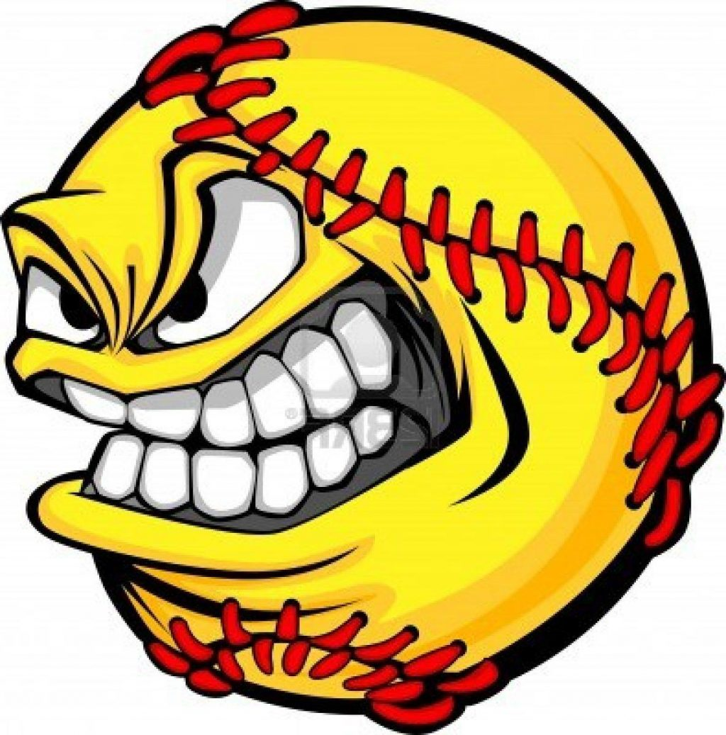 Angry clipart softball.