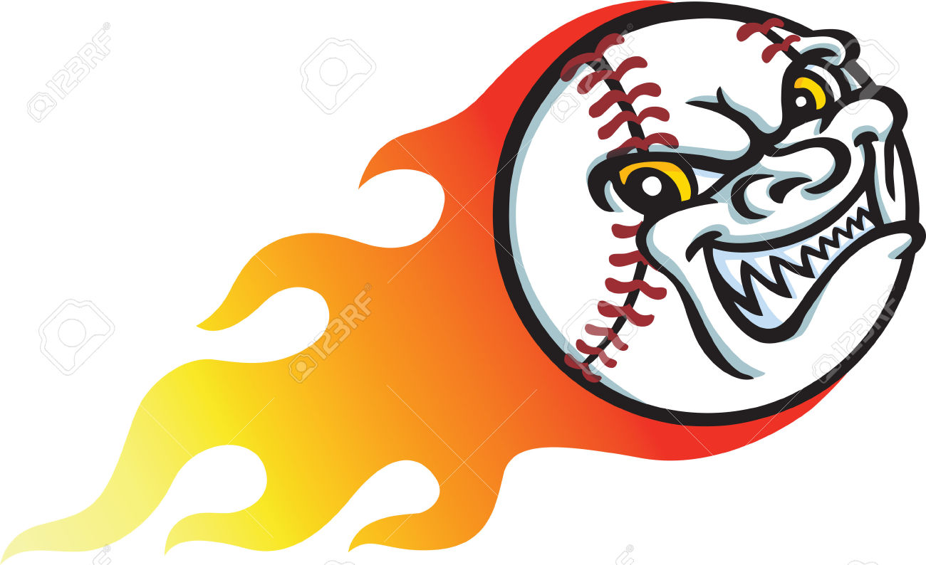 Baseball collection and bat. Angry clipart softball