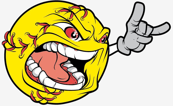 best images on. Angry clipart softball