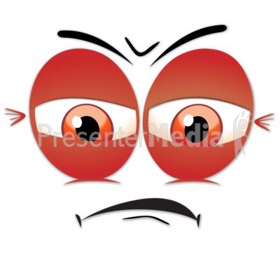Angry clipart upset. Face presentation great for