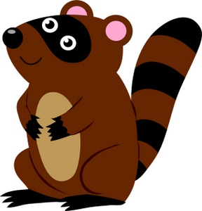 Animal clipart. Free raccoon clip art