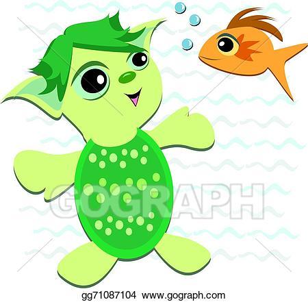 Vector illustration cute turtle. Animals clipart alien