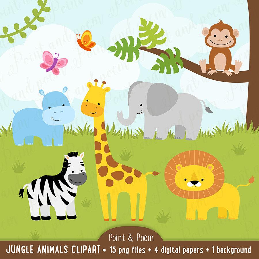Clip art baby cute. Animals clipart jungle