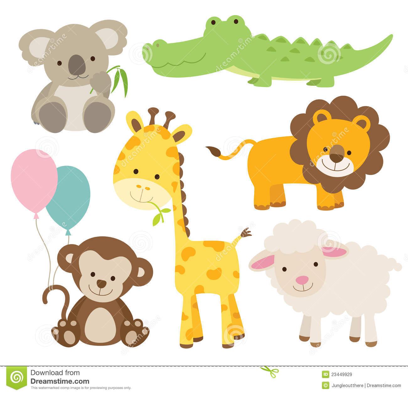 Animals clipart baby shower. Animal