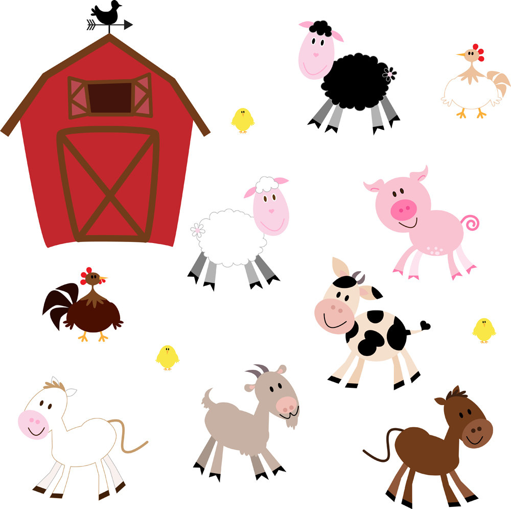 Animals clipart barnyard. Baby