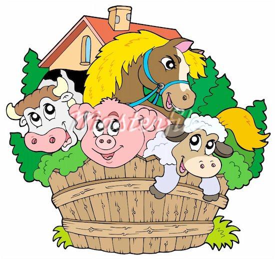 Free clip art farm. Animal clipart barnyard