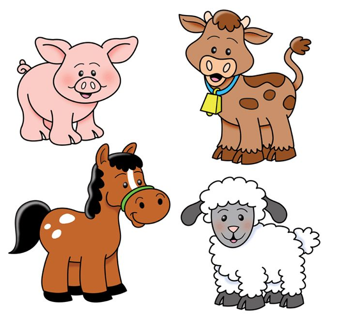 Farm cows goats pinterest. Animals clipart barnyard