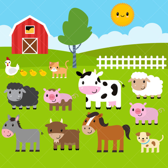 Farm clip art from. Animals clipart barnyard
