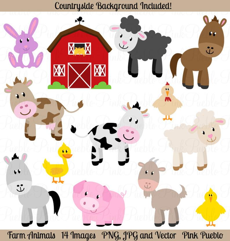 Farm clip art commercial. Animals clipart barnyard