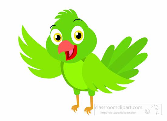 Animals clipart bird. Animal cute green parrot