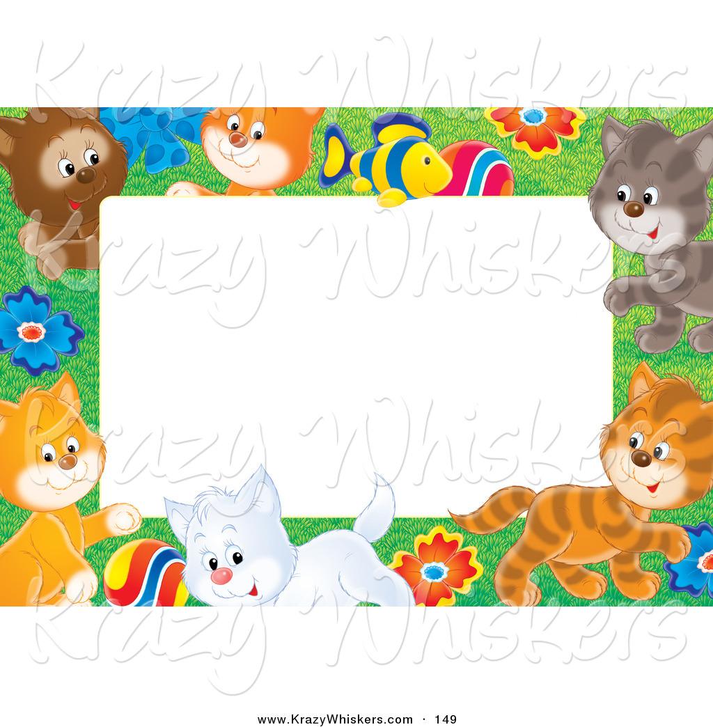 Animal . Kittens clipart border