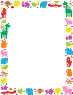 Free animal borders clip. Animals clipart borderline