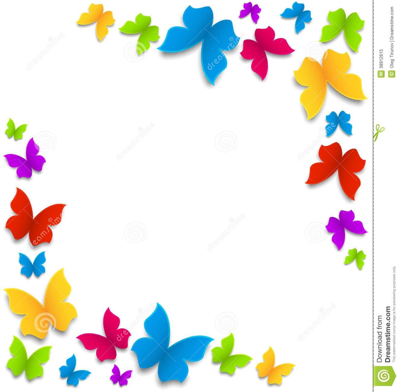 collection of butterfly. Animals clipart borderline