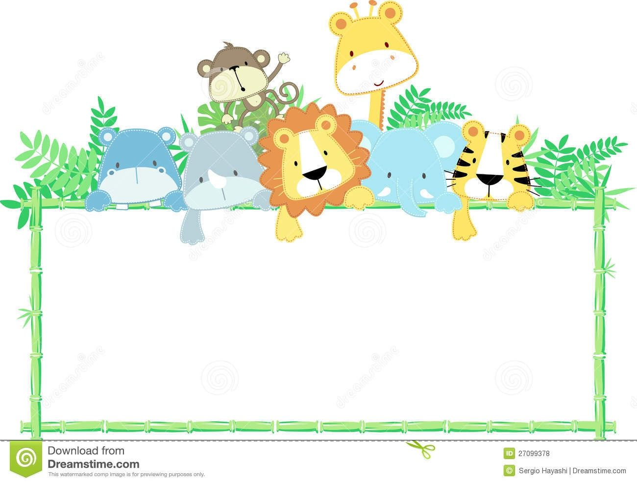 Animals clipart borderline. Animal border clipartuse zoo