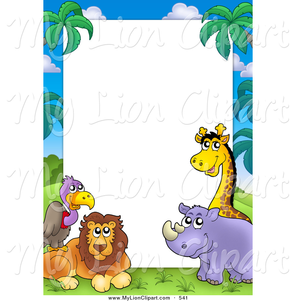 Animals clipart borderline. Animal borders