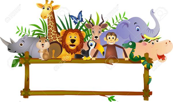 Zoo animal border free. Animals clipart borders