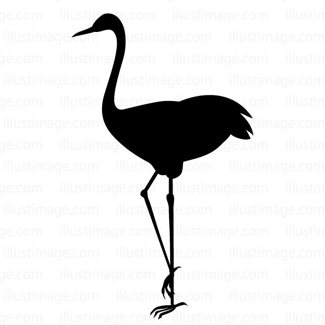 Free cranes silhouette clip. Animals clipart crane
