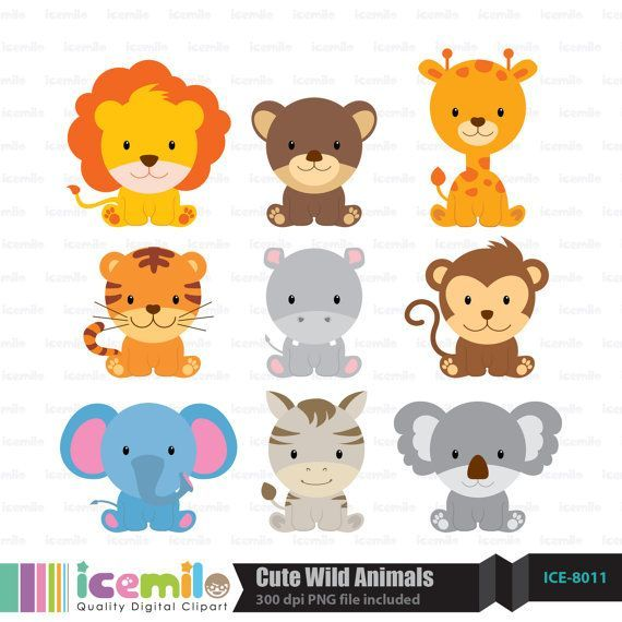 Free download wild animal. Animals clipart cute