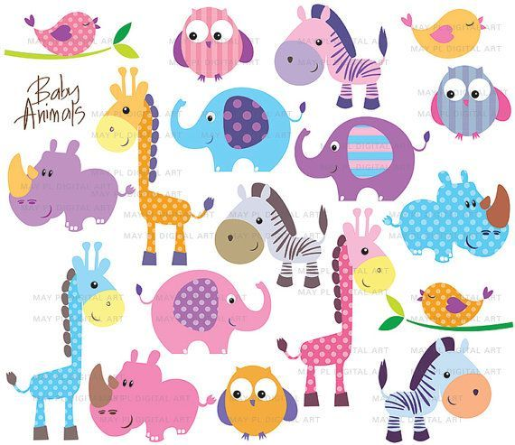 Animals clipart cute. Free download for your