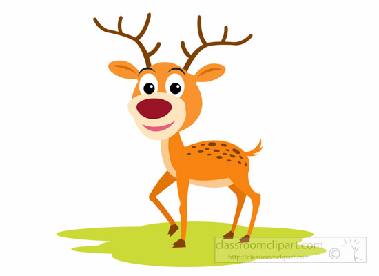 Animals clipart deer. Cartoon wild animal classroom
