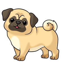 Pug soooo many more. Animals clipart dog