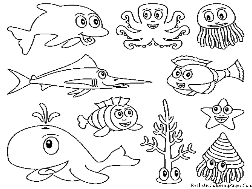 Animals clipart easy. How to draw ocean