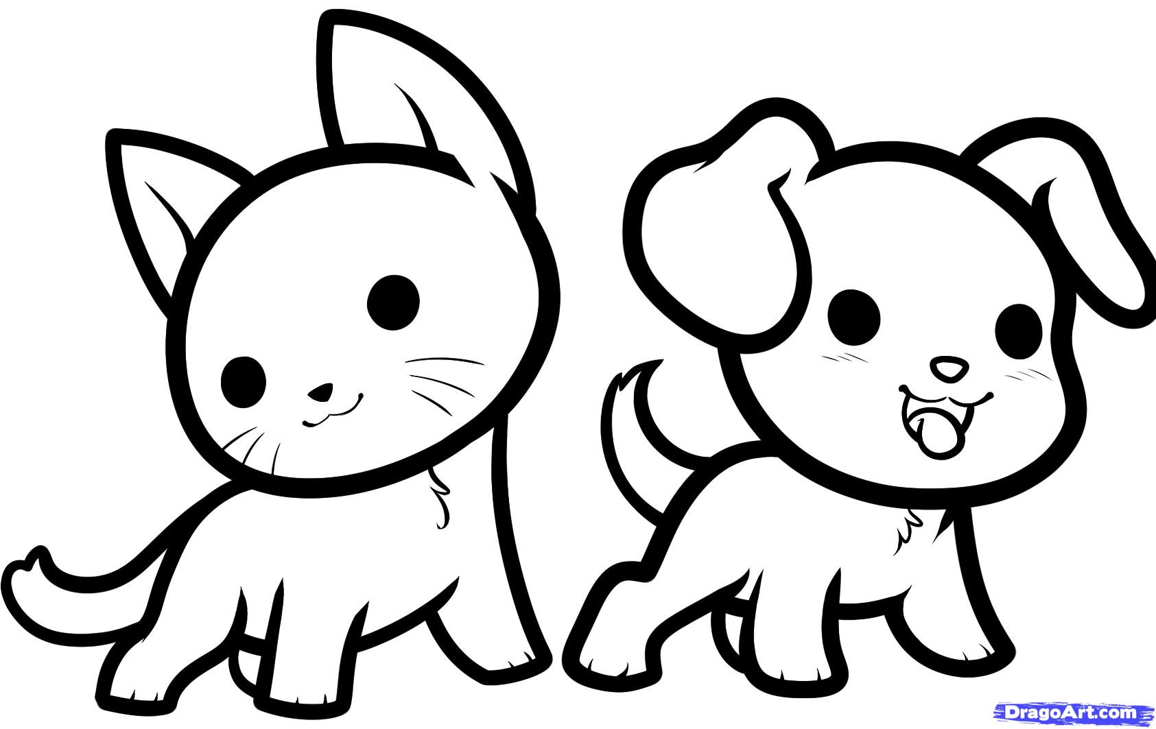 Cute drawings of animal. Animals clipart easy