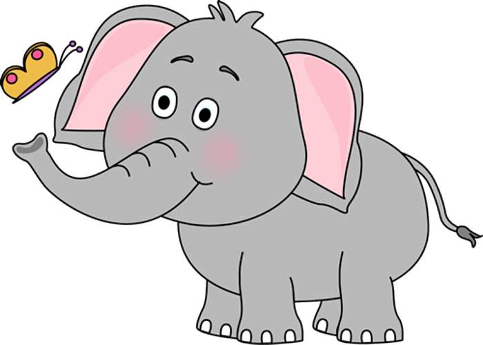Craft projects animals clipartoons. Animal clipart elephant