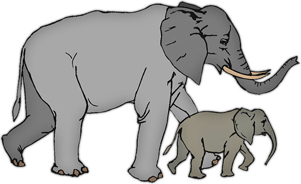 Animal clipart elephant. Free animations gifs mother