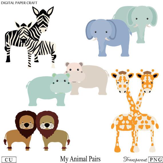 Animal elephant giraffe . Clipart zebra hippo