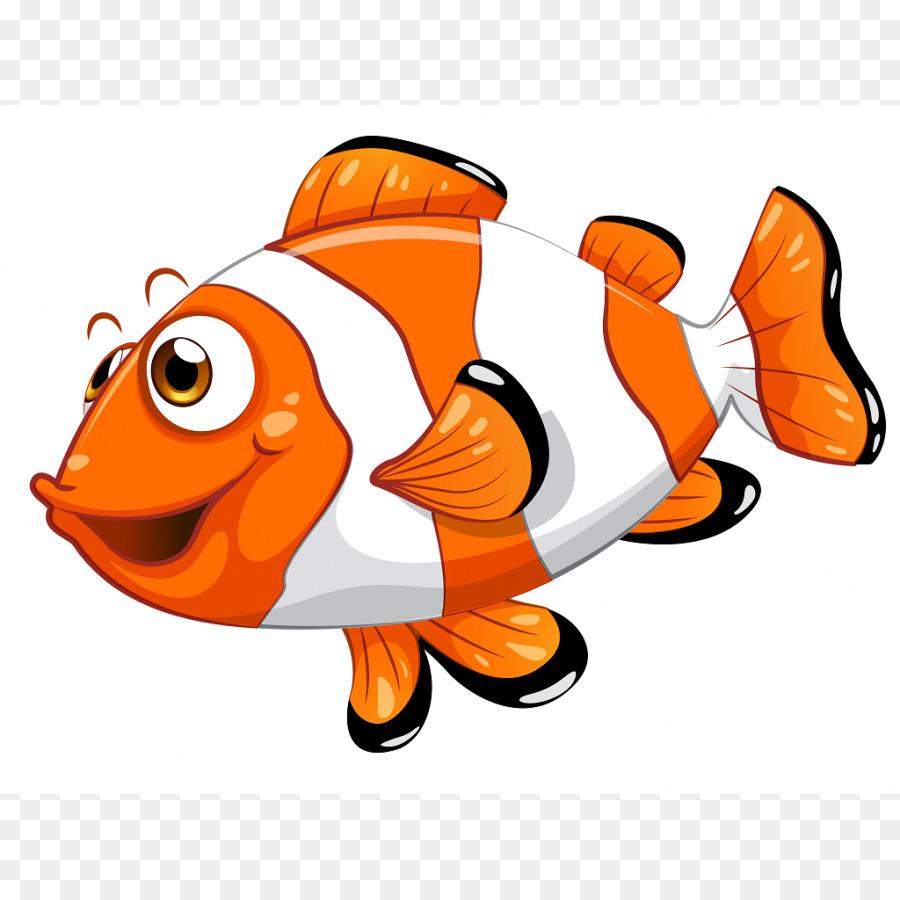 Cartoon animal sea transparent. Animals clipart fish