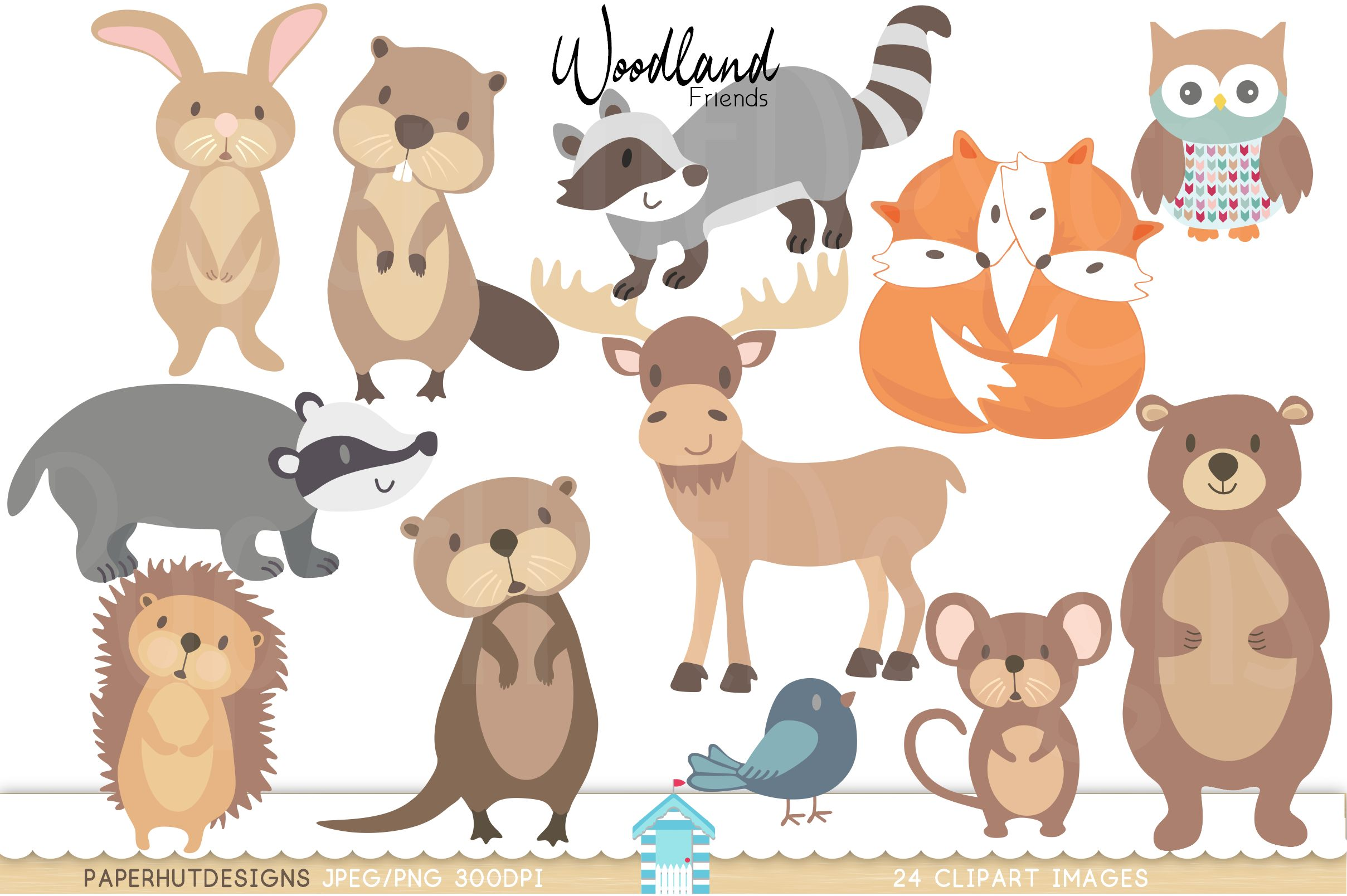 Woodland clipart forrest animal. Forest animals