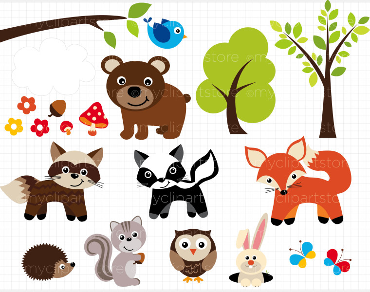 Free animal cliparts download. Animals clipart forest