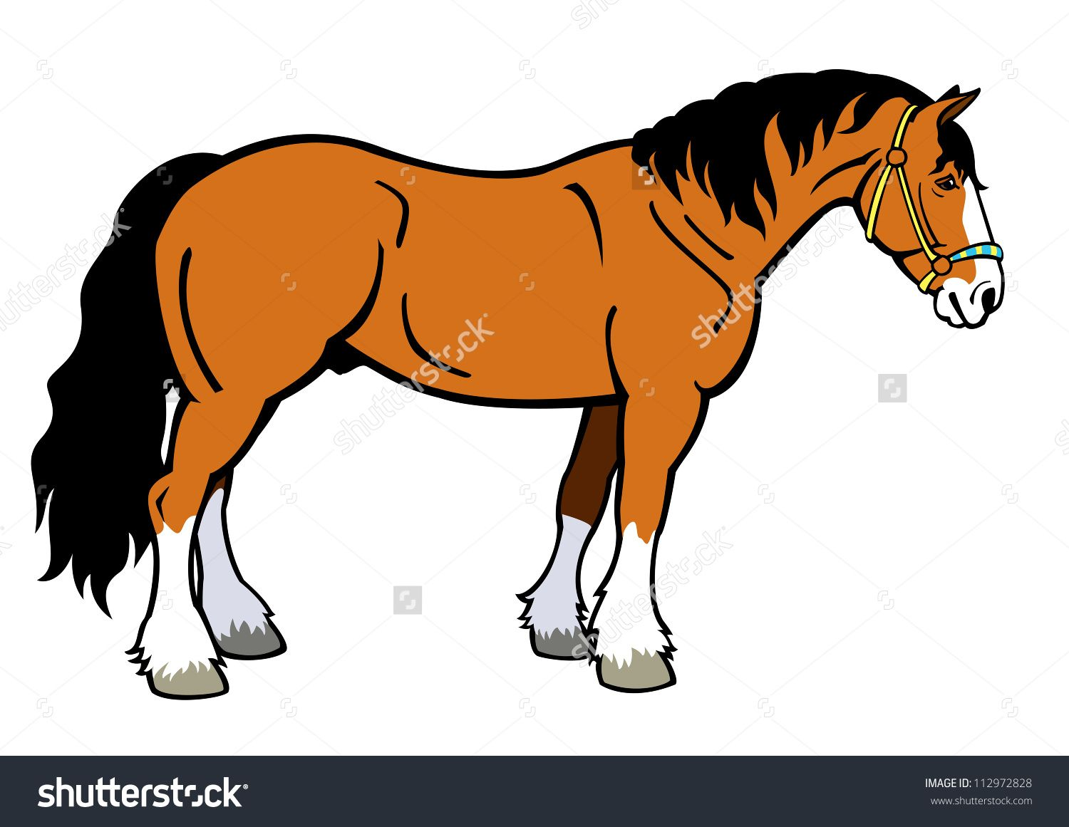 Animals clipart horse. Heavy stock vectors vector